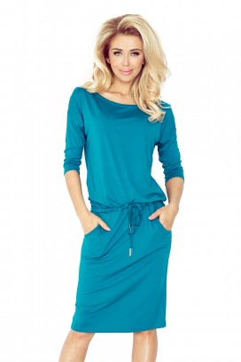 13-63 Krátke modré športové šaty s vreckami