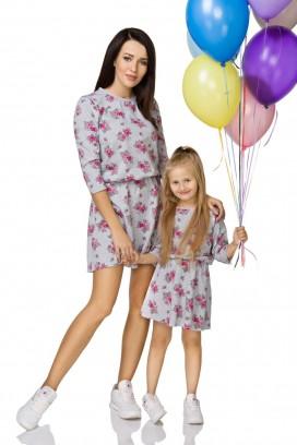 Kvietkované šaty - mama