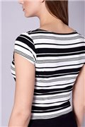 Tričko - biela/čierna