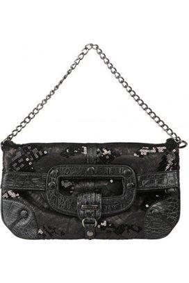 SKLADOM Čierna kabelka s trblietkami zn. Fornarina