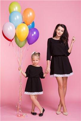 Šaty s čipkou čierna 1 - mama