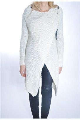 Dlhý sveter - biela