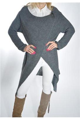 Dlhý sveter - šedá