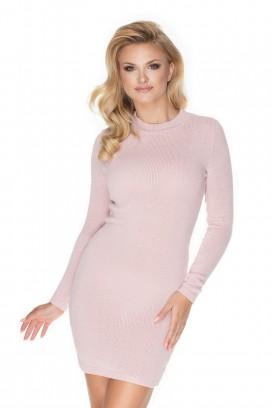 Ružové úpletové šaty model 134594 Pb