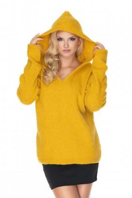 Žltý sveter s kapucňou model 135297 PB