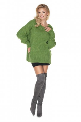 Zelený voľný sveter model 135318 Pb