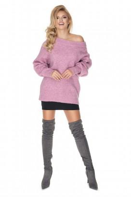 Ružový voľný sveter model 135319 Pb