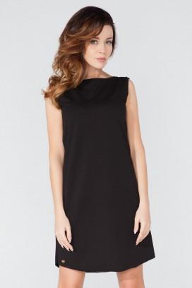 Krátke čierne voľné šaty bez rukávov model 51737 TA